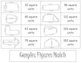 Area of Complex Figures Match