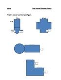 Area of Complex Figures test/quiz