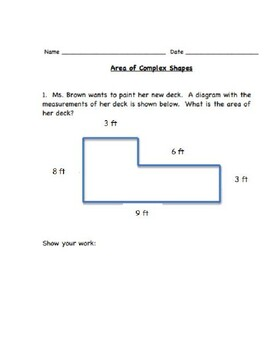 Area of Complex Shapes Test Prep