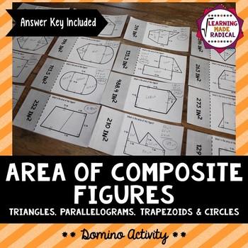 Area of Composite Figure Domino Activity 6.G.A.1