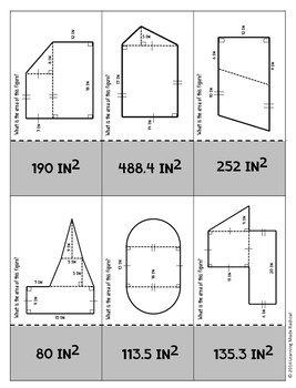 Area of Composite Figure Domino Activity