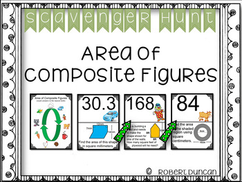 Area of Composite Figures - Scavenger Hunt