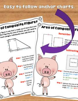 Area of Composite Figures Activity Worksheets