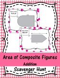 Area of Composite Figures - Addition Scavenger Hunt