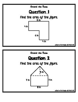 "Area of Composite Figures ""Around the Room"" Activity"
