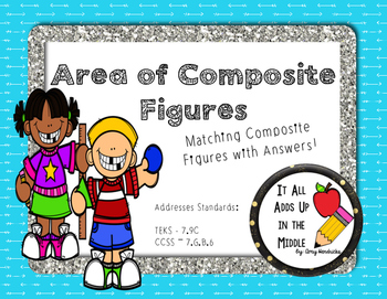 Area of Composite Figures Card Match