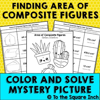Area of Composite Figures Color and Solve