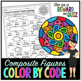 Area of Composite Figures Common Core Math Color By Number or Quiz