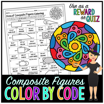 Area of Composite Figures Coloring Page
