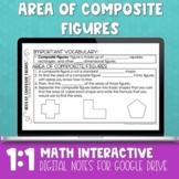 Area of Composite Figures Digital Math Notes