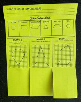 Area of Composite Figures (Foldable)
