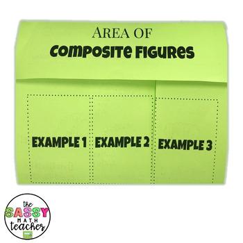 Area of Composite Figures Foldable