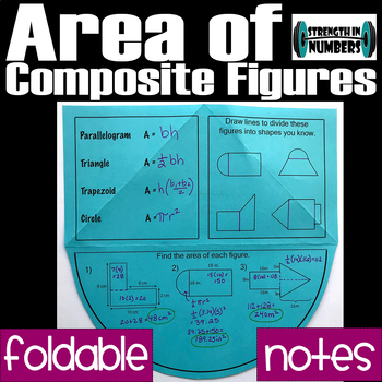 Area of Composite Figures Foldable Notes Interactive Notebook