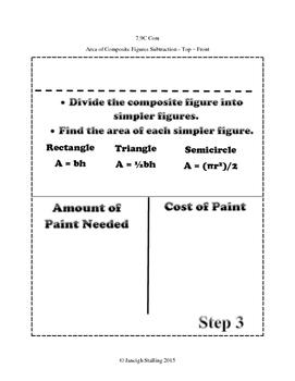 Area of Composite Figures INB TEKS 7.9C