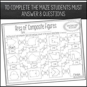 Area of Composite Figures Maze