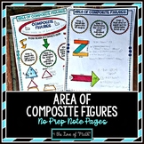 Area of Composite Figures No Prep Note Pages