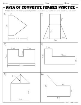 Area of Composite Figures | Practice and/or Task Cards
