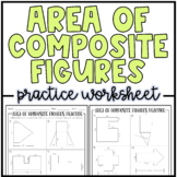 Area of Composite Figures | Practice Worksheets or Homework