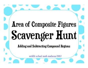 Area of Composite Figures Scavenger Hunt