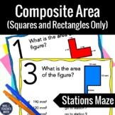 Area of Composite Figures Stations Maze Activity