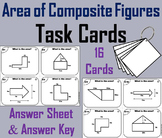 Area of Composite Figures Task Cards Activity 5th 6th 7th 8th 9th Grade