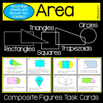 Composite Figures Area Task Cards