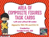 Area of Composite Figures Task Cards with QR Codes