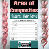 Area of Composite Figures Valentine's Day Self Checking Heart Garland Chain
