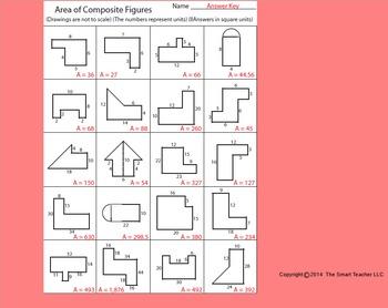 Area of composite shapes worksheet 69
