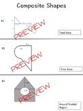Area of Composite Figures Worksheet