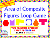 Area of Composite Figures and Shaded Regions Loop Game