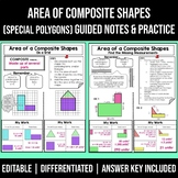 Area of Irregular Shapes Notes   Composite Figures