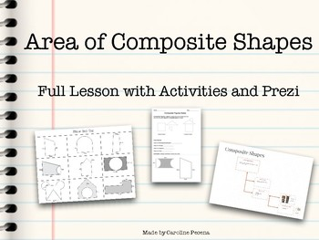 Area of Composite Shapes - Lesson Plan