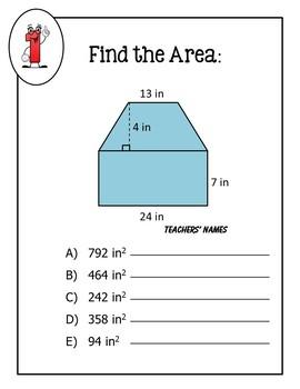 Area of Compound Figures Math MadLib