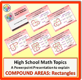 Area of Compound Shapes (Rectangles) for High School Math