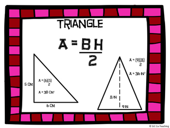 Area of Figures Large Task Cards (Parallelograms, Triangles, and Trapezoids)