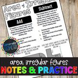 Area of Irregular (Composite) Figures Doodle Guide & Practice Worksheet