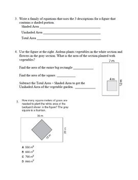Area of Irregular Composite Figures Shapes Practice Geometry Worksheet