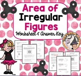 Area of Irregular Figures Composite Compound Shapes Practice Geometry Worksheet