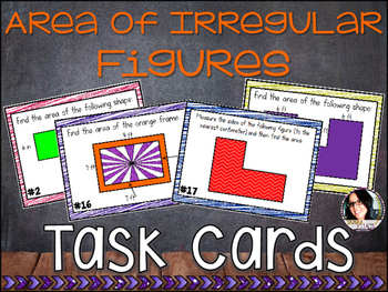 Area of Irregular Figures Task Cards COMMON CORE ALIGNED 4.MD.A.3
