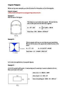 Geometry: Area of Irregular Polygons