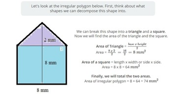Area of Irregular Polygons (PowerPoint Lesson and Printables!)