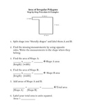 Area of Irregular Polygons: Step-by-Step Process and Template