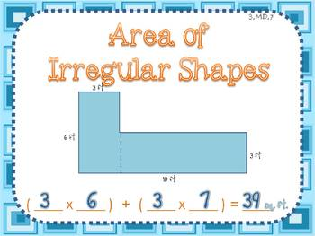 Area of Irregular Shapes by BeachyTeach | Teachers Pay Teachers