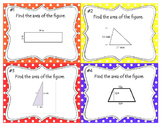 Area of Irregular Shapes Task Cards 6.G.A.1