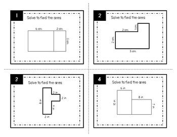 Area of Irregular Shapes Task Cards