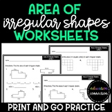 Area of Irregular Shapes Worksheets