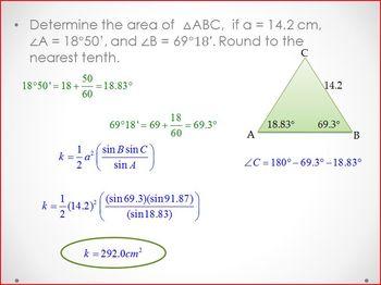 Area of Non-Right Triangles