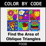 Area of Oblique Triangles - Color by Code / Coloring Pages - Food