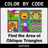 Area of Oblique Triangles - Color by Code / Coloring Pages